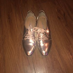 Rose Gold Oxfords